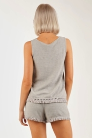 Very J  Waffle Knit tank top - Back cropped