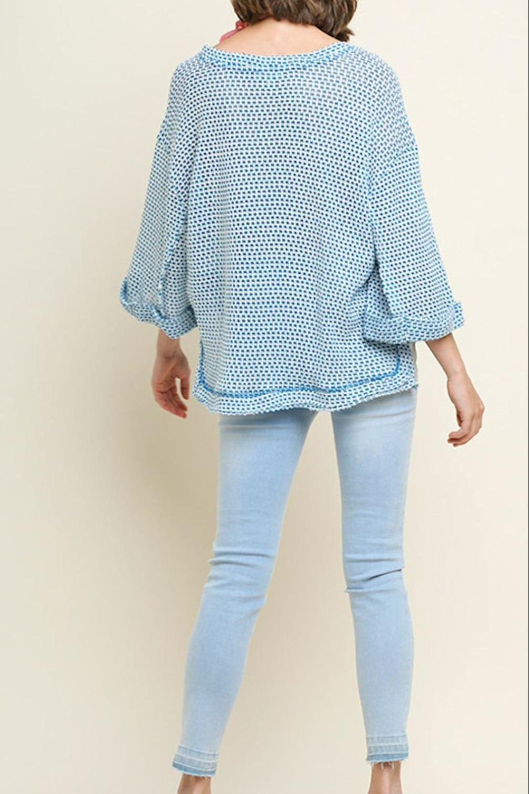 Umgee USA High-Low Waffle-Knit Top - Front Full Image
