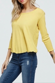 Jolie Waffle Knit Top - Back cropped