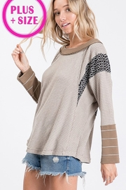 Ces Femme Waffle Knit Top - Front full body