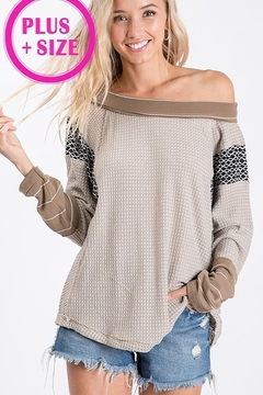 Ces Femme Waffle Knit Top - Product List Image