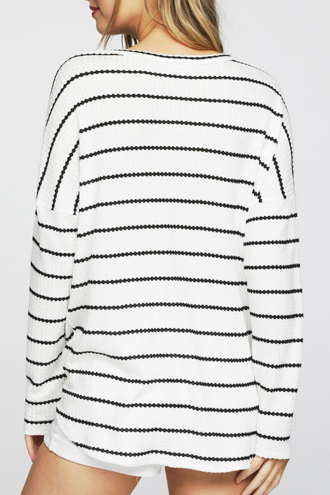 Pretty Little Things Waffle Knit Top - Front Full Image