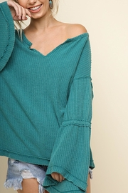 Umgee USA Waffle Knit Top - Product Mini Image