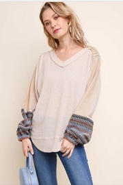 Umgee Waffle Knit Top - Product Mini Image