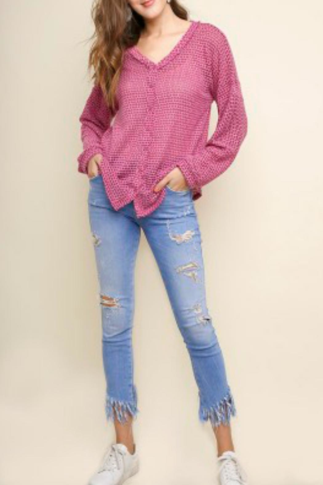 9a1cc769d Umgee Waffle Knit V-Neck from California by Tu Si Bella Boutique ...