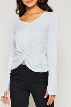 Sadie and Sage Waffle Knot Top - Product List Image