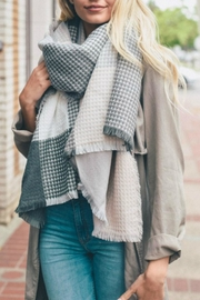 Pretty Little Things Waffle Plaid Scarf - Product Mini Image