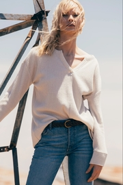 z supply Waffle Split Neck Thermal - Front cropped