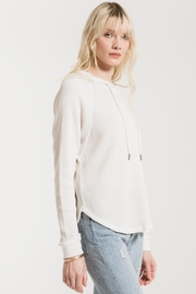z supply Waffle Thermal Dolman Hoodie - Front full body