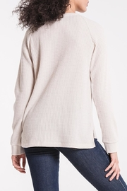 z supply Waffle Thermal Henley - Back cropped