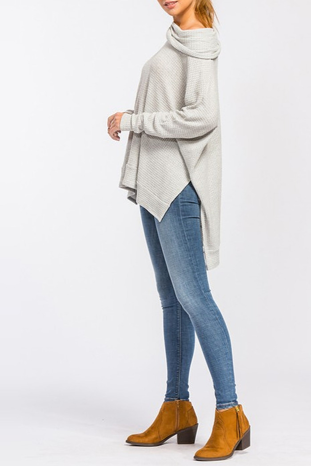 Cherish Waffle Thermal Top - Side Cropped Image