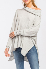 Cherish Waffle Thermal Top - Front cropped