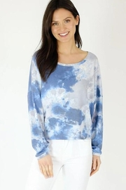 Six Fifty Waffle Tie Dye Top - Product Mini Image