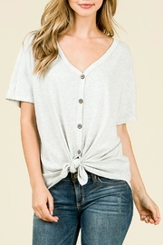 7th Ray Waffle Tie Top - Front cropped