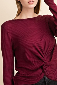 Mittoshop WAFFLE TWISTED LONG SLEEVE TOP - Product List Image