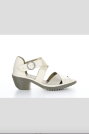 Fly London Waid Cream Sandel with Rubber Sole - Product Mini Image
