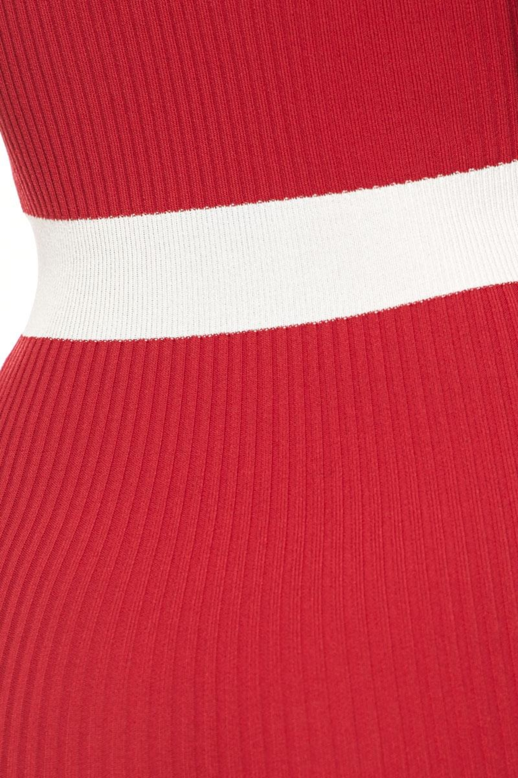 Hot & Delicious Waist Stripe Dress - Back Cropped Image