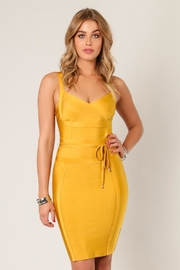 Wow Couture Waist-Tie Bodycon Dress - Product Mini Image