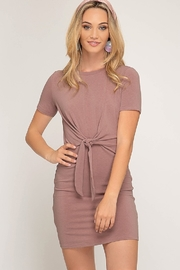 She + Sky Waist Tie Knit Dress - Product Mini Image