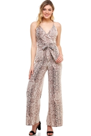 Dress Code Waist-Tie Snake Jumpsuit - Product Mini Image