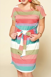 Oddi Waist-Tie Striped Terry - Product Mini Image