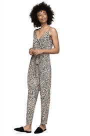 Naked Zebra Waisted Cheetah Jumpsuit - Front cropped