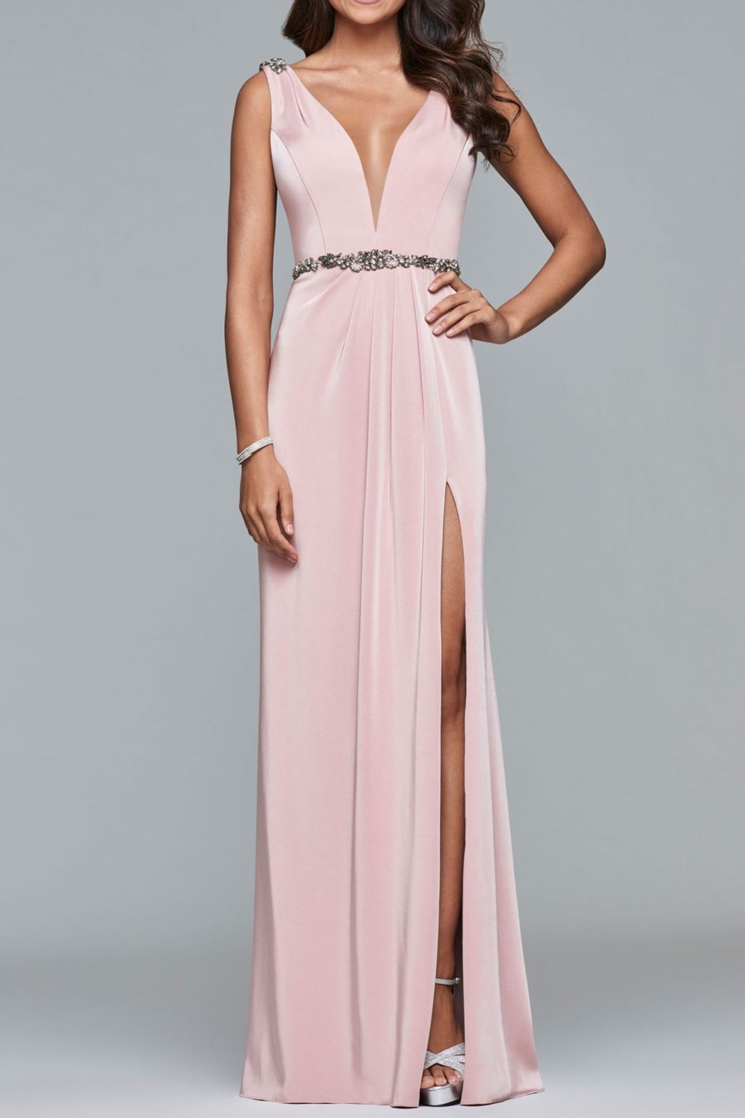 Faviana Waistline Accented Gown - Main Image