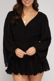 She and Sky Waiting On The Weekend Romper - Front cropped