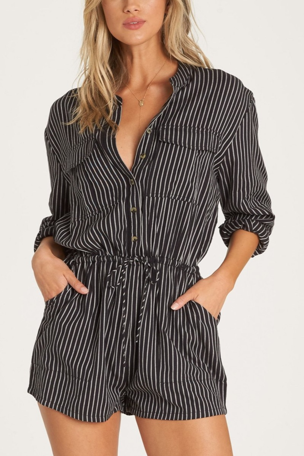 Billabong Wake The Night Romper - Front Cropped Image