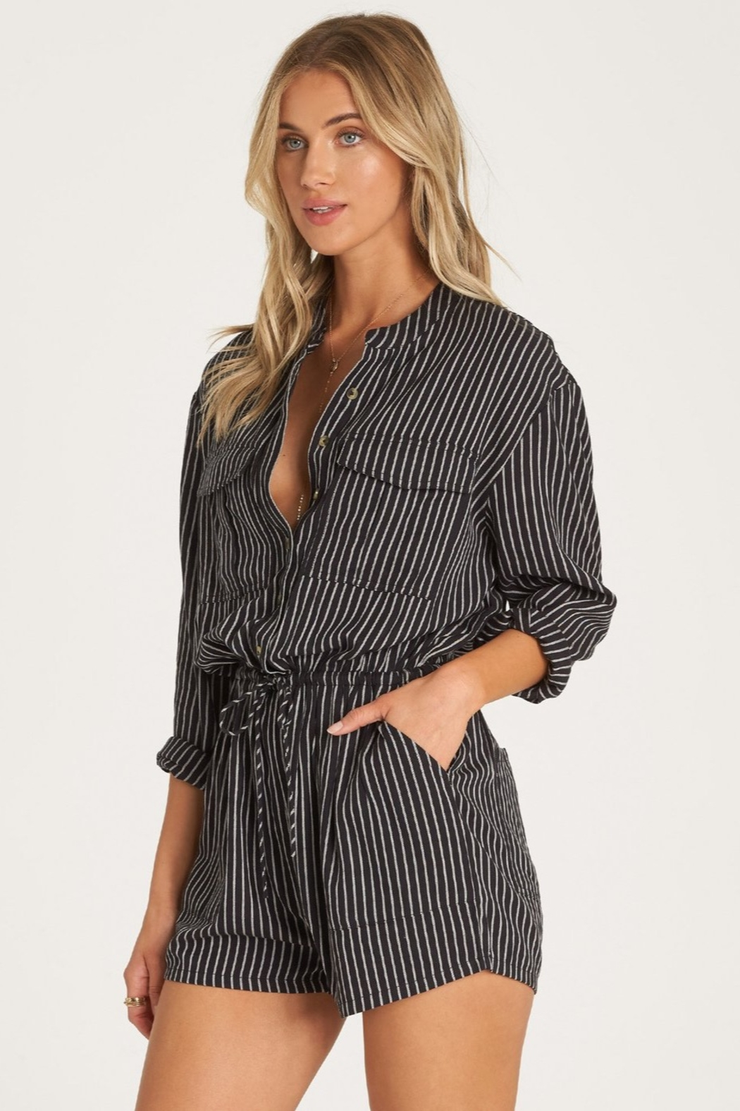 Billabong Wake The Night Romper - Side Cropped Image