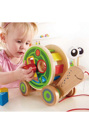 Hape  Walk-A-Long Snail - Front full body