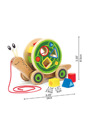 Hape  Walk-A-Long Snail - Back cropped