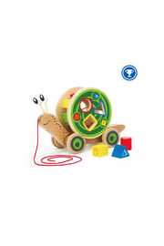 Hape  Walk-A-Long Snail - Front cropped