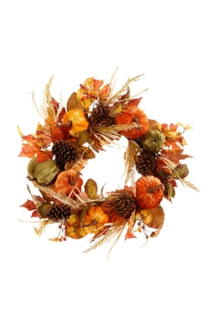 Shoptiques Product: Fall Pumpkin Wreath