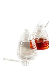 Walker's Glass Honey Pot - Front full body