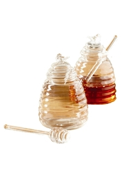 Walker's Glass Honey Pot - Front cropped