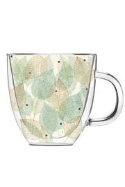 Walker's Leaf Glass Coffee Cup - Product Mini Image