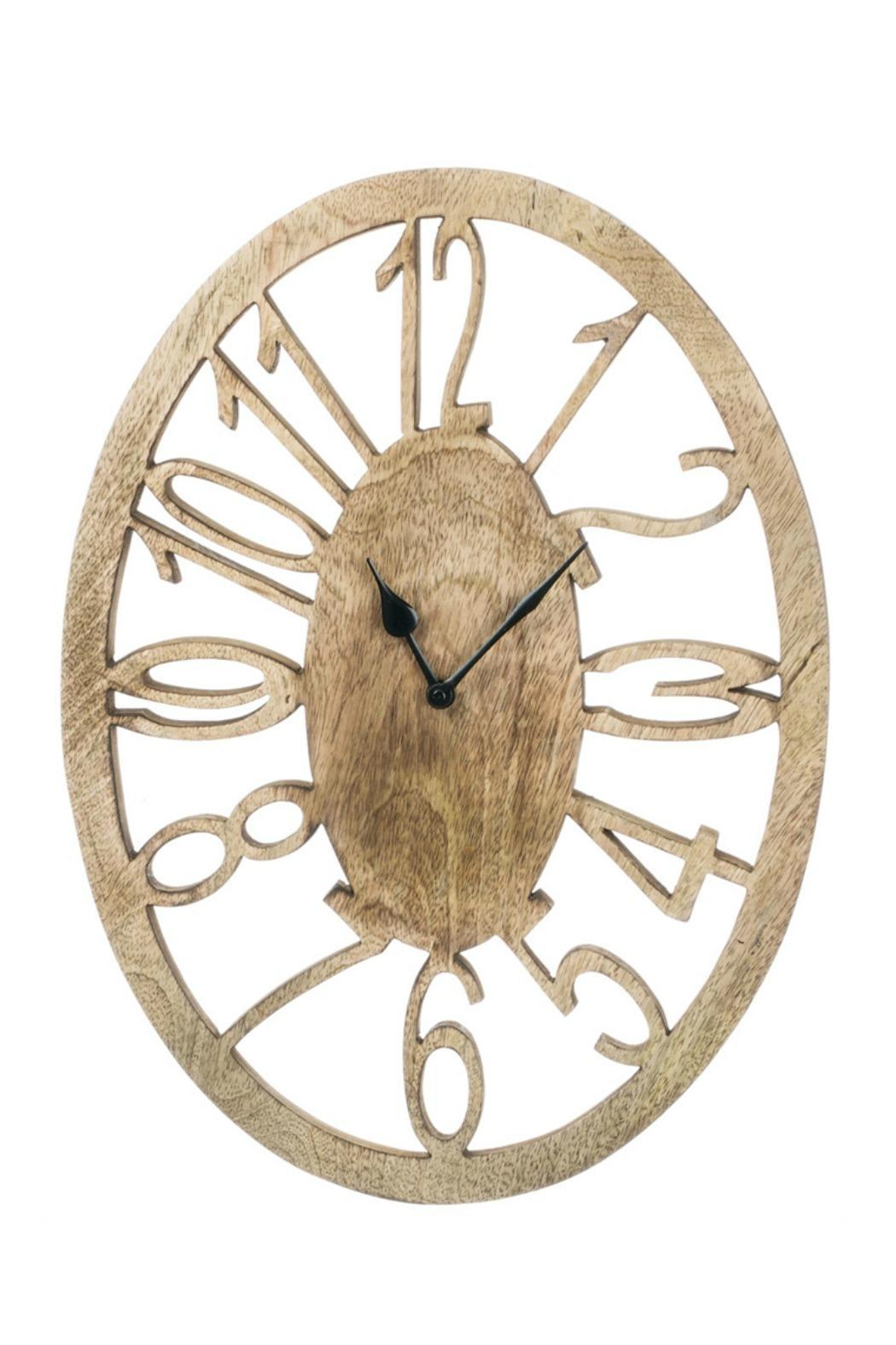 Walker 39 s oval wall clock from alabama shoptiques - Oval wall decor ...
