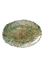 Walker's Turquoise Gold Dessert Plate - Product Mini Image