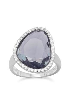Shoptiques Product: Abstract Slate Glass Ring