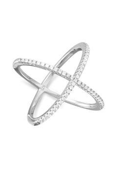 Shoptiques Product: Silver X Ring