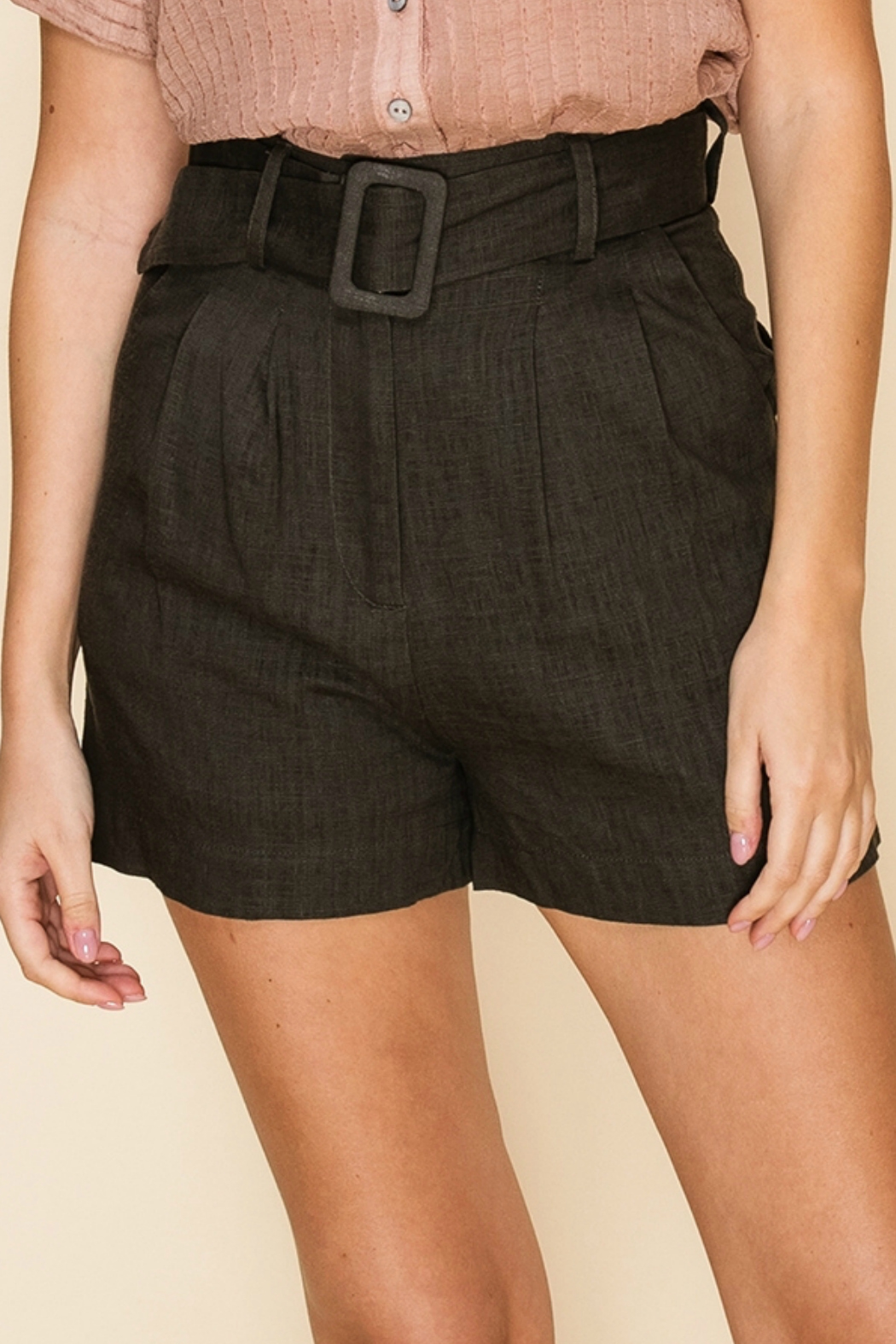 HYFVE WALKING SHORTS WITH MATCHING BELT - Front Cropped Image