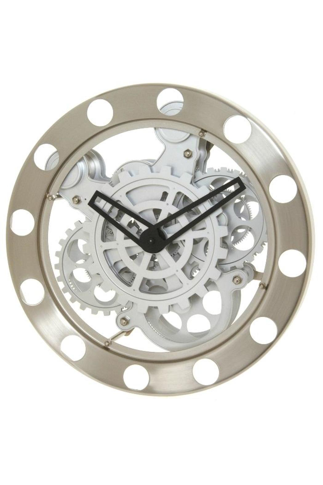 Wall Gear Clock - Front Cropped Image