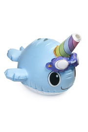 Bling2o Wally the Narwhal Sprinkler - Front full body