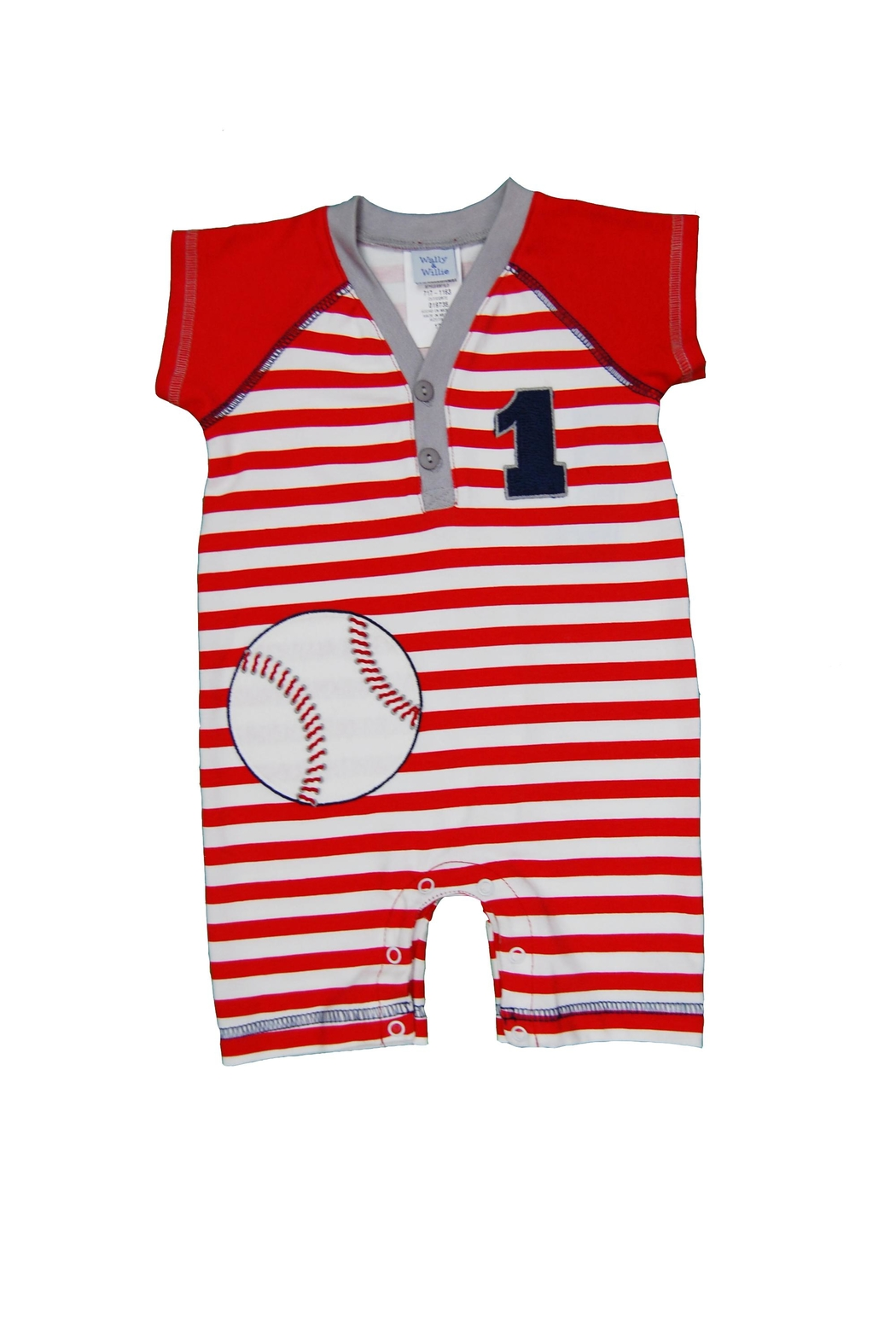 Wally & Willie Baseball Romper - Main Image