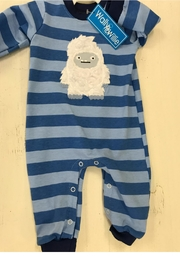 Wally & Willie Striped Yeti Romper - Product Mini Image