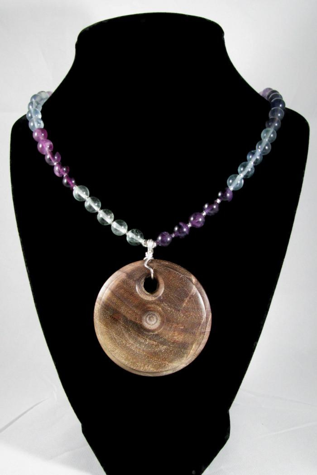 Silver Serpent Studio Walnut Fluorite Necklace - Front Full Image