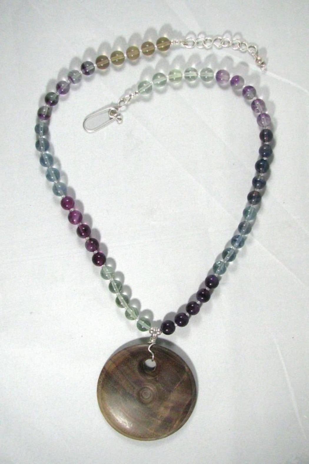 Silver Serpent Studio Walnut Fluorite Necklace - Side Cropped Image