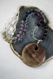 Silver Serpent Studio Walnut Fluorite Necklace - Front cropped