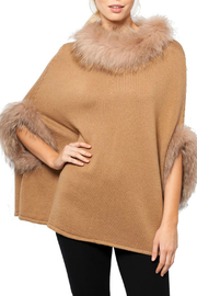 love token Walter Fur Lined Poncho - Product Mini Image